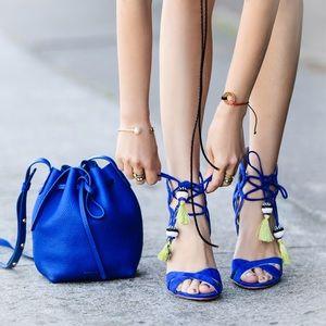 d8b6f6ae5 Sam Edelman Shoes - SAM EDELMAN Azela Blue Suede Sandal 7